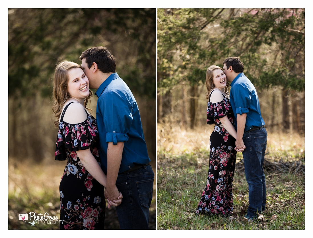 Sycamore Creek Family Ranch Branson, MO Engagement photos. PhotoGenie Photography